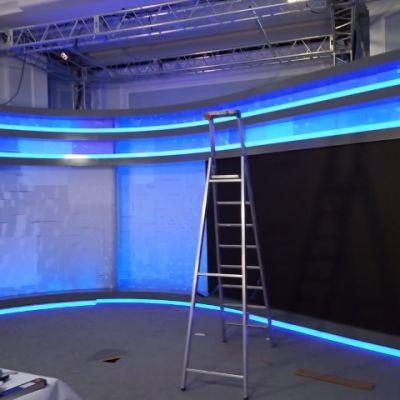 Установка подсветки. рекламного освещения
